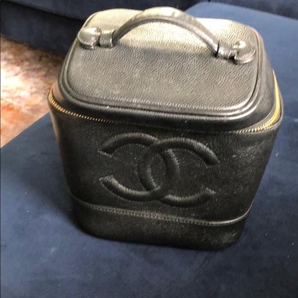 683f772d308ff9 CHANEL Handbags - Chanel Vintage Timeless Cosmetic Case Caviar